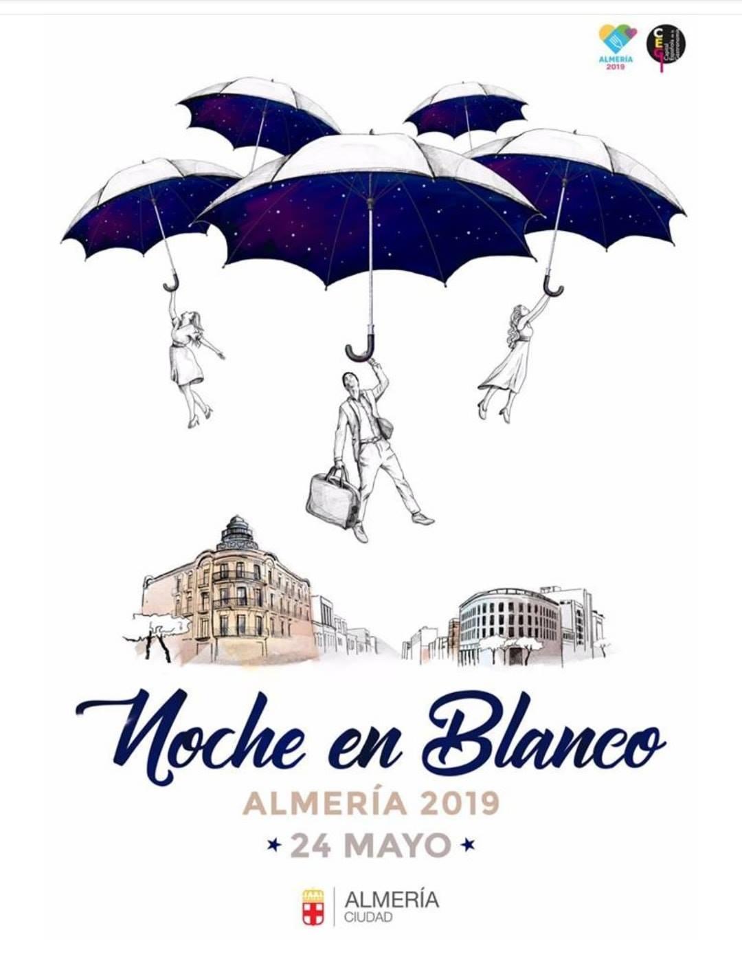 Cartel Noche en Blanco Almería 2019
