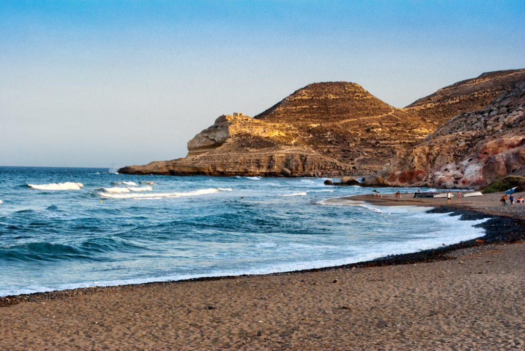 Cala del Cuervo en Las Negras, Cabo de Gata, Almería. Fotografía sacada de expansion.